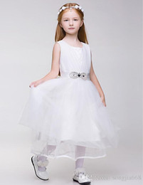 Wholesale vest size chart for sale - Group buy 2015 Girls Communion Birthday Party For The First Time Wedding Flower Girl dress Christmas Dress Custom size Free Transportation