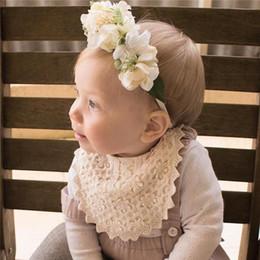lace cape crochet 2019 - Newborn lace crochet bibs boutique baby girls lace embroidery princess capes Ins infant toddler lace flowers hollow sali