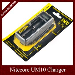 Nitecore Lcd Canada - 2015 Nitecore UM10 Charger Intelligent Chargers LCD Display for Li-ion IMR Battery 18650 14500 10440 17670 16340 Multifunctional Charger