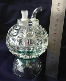 Lighted Bong Canada - Hookah wholesale glass, glass bong accessories Crystal Hookah big ball with flashing lights, free shipping, large better