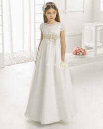 8b799cfc1eaf Girls empire waist dress online shopping - Vintage Flower Girl Dresses for  Wedding Empire Waist Short