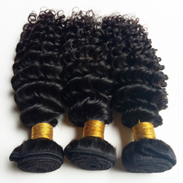 black weaves Canada - Brazilian virgin human hair weaves beauty kinky curl hair extensions Indian Remy hair weft Natural Color and Black #1 #1b for Black woman