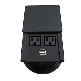 Usb Socket Power NZ - New Design!Waterproof and Dustproof Desktop Socket Outlet with 2 AC Power and 2 USB Charger