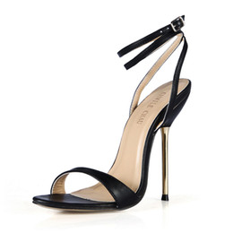 358dae5dad377a CHMILE CHAU Summer Sex Party Women Shoes Stiletto Iron High Heel Buckle  Ankle Strap Fashion Ball Ladies Sandals 3845-i6
