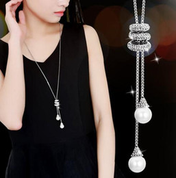 $enCountryForm.capitalKeyWord NZ - 2017 New Women All-match Tassel Sweater Chain Female Long Long Necklace Pendant Pendant Simple Clothes Accessories TO234
