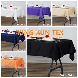 """$enCountryForm.capitalKeyWord NZ - 54""""*54"""" Square Polyester Table Cloth \ Cheap Wedding Tablecloth For Event Party Decoration Free to Door Shipping"""