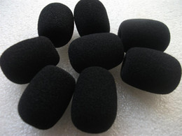 $enCountryForm.capitalKeyWord Canada - Free shipping microphone foam covers sponge windscreens with 11mm hole 32mm inner length 10pcs lot