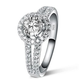 1 CT simulate diamond ring for women Luxury 925 sterling Silver ring,engagement ring for women,bridal gift for girl