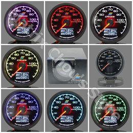 62mm 7 couleurs en 1 jauge de course GReddy Multi D / A LCD affichage numérique jauge de température d'eau jauge de voiture 2,5 pouces