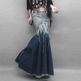 Discount Blue Striped Maxi Skirt | 2017 Blue White Striped Maxi ...