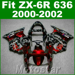 Red black kawasaki zx6R online shopping - fairing kit for kawasaki ZX R red black plastic fairings set ZX636 ZX6R JK20