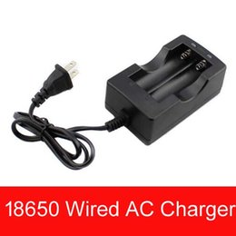 trustfire dual battery charger 2019 - 18650 Li-ion battery charger 18650 Wired Dual Battery charger for Trustfire Ultrafire Sanyo  18650 Battery charger( EU o