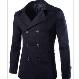 Mens Short Trench Coat Black Online | Mens Short Trench Coat Black ...