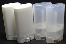 $enCountryForm.capitalKeyWord NZ - 15g DIY Empty Oval Lip Balm Tubes Deodorant Containers Clear White Lipstick Fashion Cool Lip Tubes