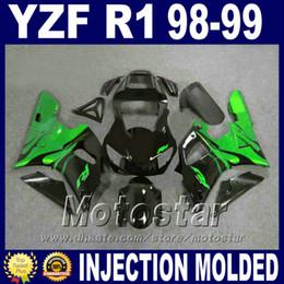 $enCountryForm.capitalKeyWord Canada - Top quality Fairings for YAMAHA 1998 1999 R1 fairing kit Injection molding YZF-R1 green ABS Plastic body set 98 99 yzf r1 P1M5