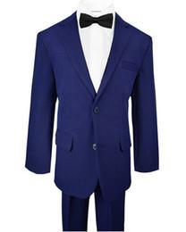 Navy Suits For Sale UK - Hot sale boy suits gentleman boy formal occasions suits little boys flower girl dress suits for wedding(jacket+pants+vest+tie)