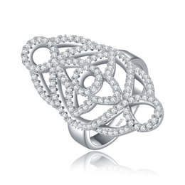 China ORSA Fashion New Arrival 136 pieces Micro Zircon Big Size Fashion Ladies Ring Size 5 6 7 8 9 OR46 cheap ladies sterling silver ring suppliers