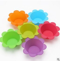 $enCountryForm.capitalKeyWord Australia - Silicone Cake Mold Flower Shape Muffin Cupcake Mould Case Bakeware Mold Tray Baking Cup Liner Baking Molds Silicone Baking Cake Mold 0067
