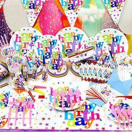 Pack Supplies Canada - Articulos De Fiesta Limited White New 84pcs set Luxury Kids Birthday Decoration Set Cartoon Theme Supplies Baby Pack Gift