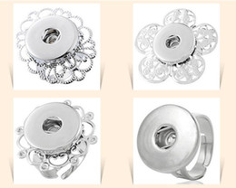 $enCountryForm.capitalKeyWord NZ - NOOSA adjustable silver flower rings Chunk Snap Button Ring DIY Noosa ginger snaps interchangeable Jewelry for women