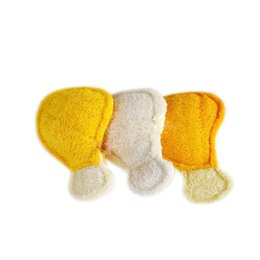 China Pets Supplies ASTM Standard Nontoxic Loofah Material Chicken Leg Shape Pets Chew Toy Pets Teeth Cleaning Tool suppliers