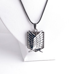$enCountryForm.capitalKeyWord Canada - Attack on Titan Jewelry Shingeki no Kyojin Scout Regiment Wings of Liberty bagge pendant Necklace anime jewelry Gift DROP SHIP 161114