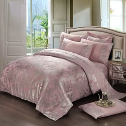 Discount king size cotton quilt sets - Wholesale-Noble bedding set 4pcs cotton Luxury duvet cover quilt bed sheet comforters bedclothes coverlet bed cover king