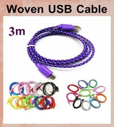 Lenovo Led online shopping - Woven charger cord v8 micro usb cable lead for s3 s4 HTC Nokia LG lenovo colorful braided smartphone data sync cable free ship CAB009
