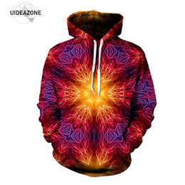 Ropa Al Por Mayor Del Festival Baratos-Al por mayor-UIDEAZONE 2017 Mandala Hoodie Print Psychedelic Festival Clothing Symetrical Art Sublimation Print Trippy Clothes Plus Size 3XL