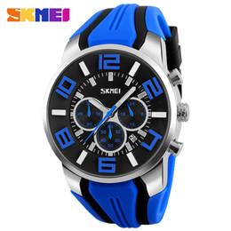 $enCountryForm.capitalKeyWord Canada - 2019 New Fashion Skmei Stop Watch Top brand Watches Men Silicone strap casual watches for men waterproof Quartz-watch Clock man