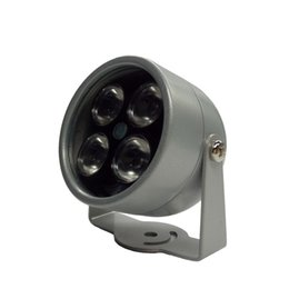 ir light for cctv camera UK - 4 IR LED Infrared Illuminator Light IR Night Vision for CCTV Security Cameras Fill Lighting metal Gray Dome Waterproof