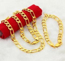 $enCountryForm.capitalKeyWord Canada - wonderful yellow gold filled men's set necklace bracelet (sp3658)