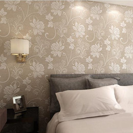 Fashion Non Woven Floral Flower 3D Wallpaper Embossed Texture For TV  Background Wall,living Room And Bedroom