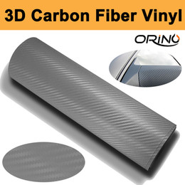 $enCountryForm.capitalKeyWord UK - 1.52x30m Roll Silver 3D Carbon fiber vinyl Wrap Car Wrapping Film Carbon Fibre Sheets With Air Drain Top quality Free shipping
