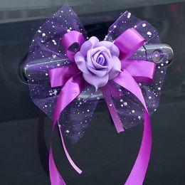 Flowers For wedding car decoration online shopping - Car Decoration Flower Romantic Auto Mirror And Handle Flowers For Wedding Decor Bouquet High End xt B R