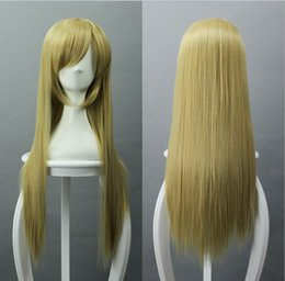 $enCountryForm.capitalKeyWord Canada - Light golden yellow wig long straight wig Anime Cosplay wig festival wig factory direct free ship wholesale price