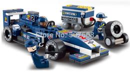 m38 b0351 f1 racing car model building block set 3d construction diy brick toys enlighten toy for children