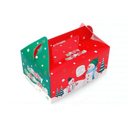 gingerbread cookies wholesale UK - Christmas Box Gingerbread Cookie Apple Storage Boxes Cake Biscuit Candy Xmas Gifts Packaged Free Shipping ZA5367