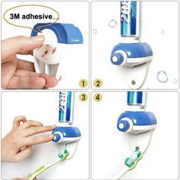 Discount New Bathroom Accessories New Arrival Bathroom Accessories Hands  Free One Touch Automatic Toothpaste Dispenser Free