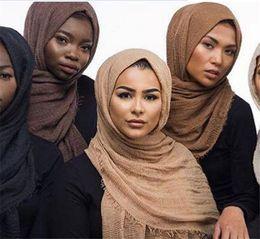 Discount jersey cotton scarf - 200pcs multicolor fashion cheapest scarves 95*180CM Long Female Scarves 41 colors cotton linen scarf jersey shawl muslim
