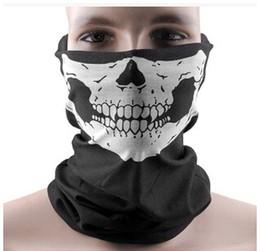 $enCountryForm.capitalKeyWord UK - 300pcs Skull Design Multi Function Bandana Motorcycle Biker Face Mask Neck Tube Scarf Free Shipping
