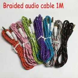 Araba Örgü Ses bağlantı Kablosu Kurşun Kaliteli colordul aux kablo 3.5mm yardımcı ses kablosu samsung iphone için genel kullanım MP3