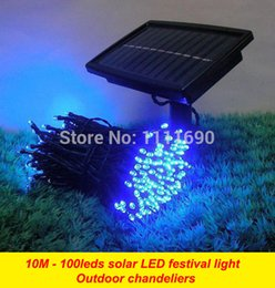 $enCountryForm.capitalKeyWord Canada - Wholesale-Outdoor Solar panel Powered Light 10M 100 LED automatic Garden waterproof Christmas Party String Fairy Decoration Lamp