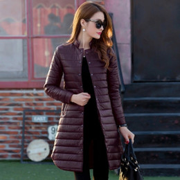 1dab6ce78c4 2016 thin women winter long or middle coats duck down parka jacket womens  brand high-knee extra long down coat woman