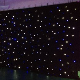 $enCountryForm.capitalKeyWord Australia - LED light star Curtain 15x15feet star colth stage drapes Blue-White color with lighting controller LED Vision Curtain