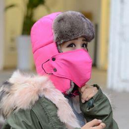 Invierno Cazador Trapeador Orejas Flaps Bomber Faux Fur Caps Unisex Prueba Trapper tapas Snow Cap Sombrero ruso MOQ 20 pcs en venta