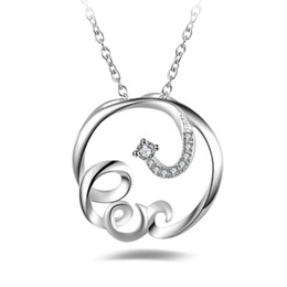 wholesale free shipping korea 2020 - Free shipping fashion high quality 925 silver Korea With diamond jewelry 925 silver necklace Valentine's Day holida