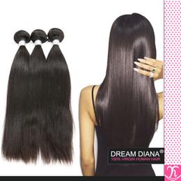 Discount lula human hair Ali Queen Hair Peruvian Virgin Hair Straight 3Bundle Ms Lula Peruvian Virgin Hair Hot Sale Kinky Straight Human Hair Bun