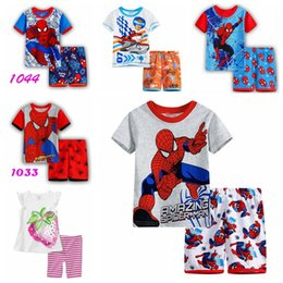 $enCountryForm.capitalKeyWord Canada - NEW boys sleeping wear sets 2pcs pajamas sets baby nightwear short sleeve t-shirts+shorts cartoon homewear 1set lot SP53