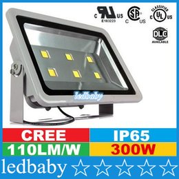 Cree Canopy lights online shopping - Hot Selling CREE Led Outdoor Floodlights W Canopy Led Lights Waterproof Led Square Tunnel Lights AC V UL Free DHL FEDEX